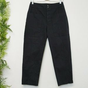 NWT Zara Trafaluc Cropped Trouser Pants Black S